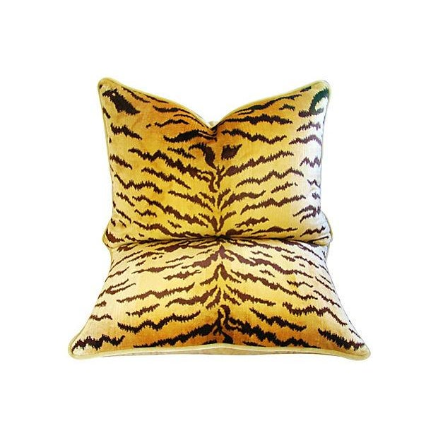 Custom Scalamandre Silk Le Tiger Pillows - A Pair - Image 6 of 6