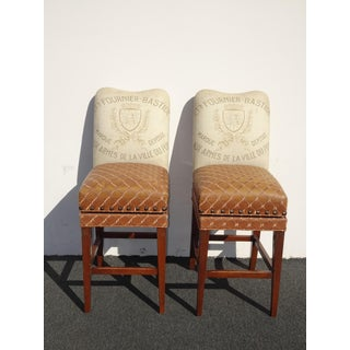 Pair Designer French Country Burnt Orange Bar Stools ~ Estate of Dave Mustaine Preview