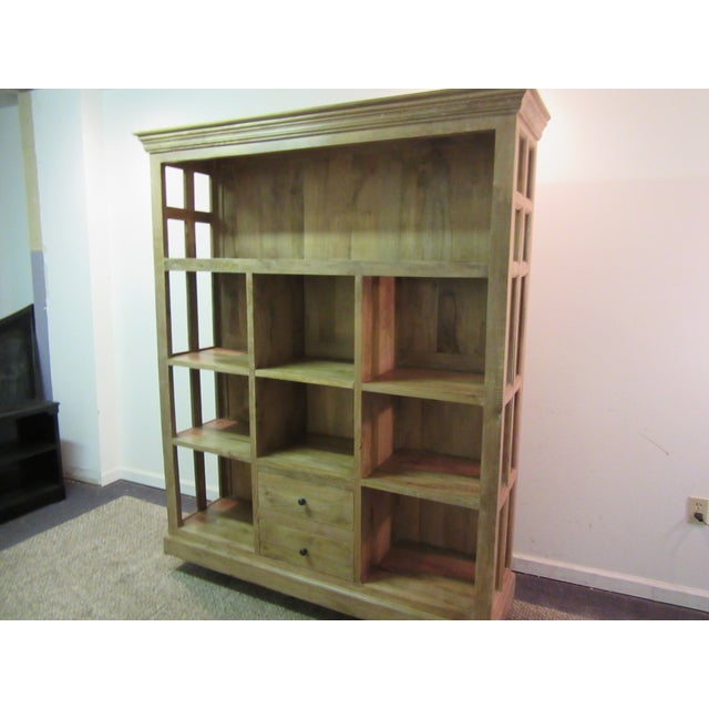 Large French Country Open-Front Cupboard For Sale - Image 9 of 10