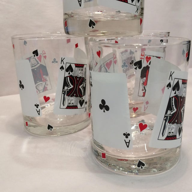 Poker Playing Card Lowball Glasses- Set of 4 - Image 7 of 11