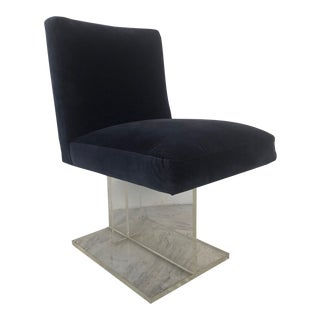 Karl Springer Style Lucite Side Chair For Sale