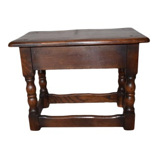 English Side Table Stool For Sale