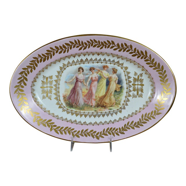 Porcelain Transfer Portrait Platter For Sale