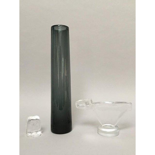 Erik Höglund for Boda Scandinavian Modern Art Glass Owl For Sale - Image 9 of 10