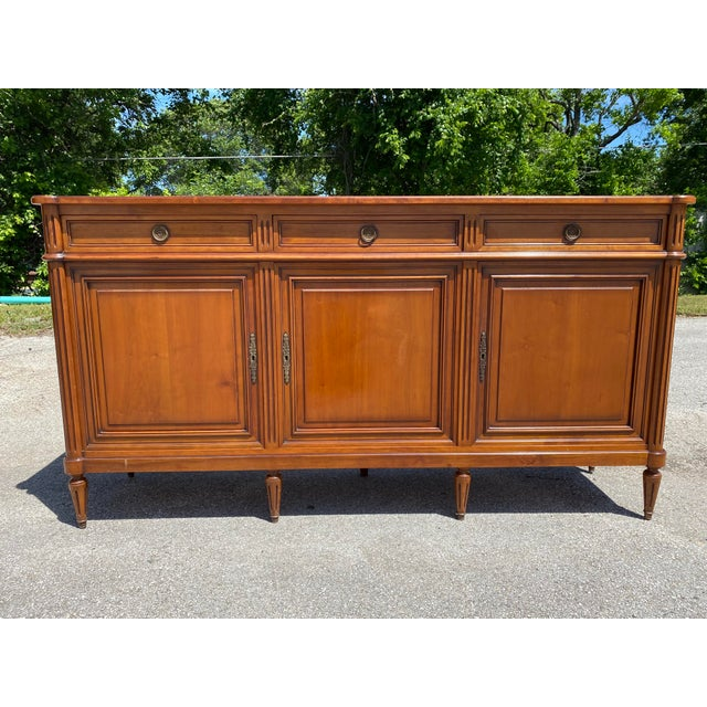 French Louis XVI Style Fruitwood Sideboard For Sale - Image 11 of 11