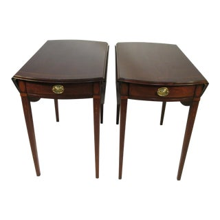 Pair of Mahogany Pembroke Table by Councill For Sale