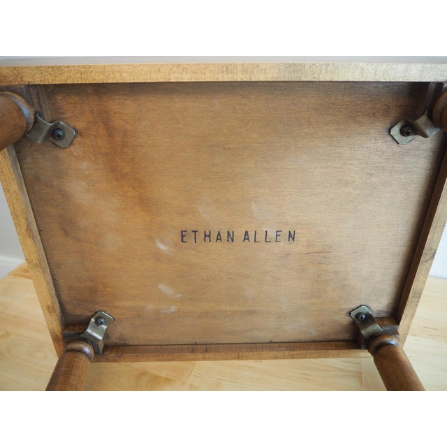 Ethan Allen Handled Side Table - Image 6 of 6