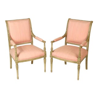 Directoire Style Armchairs - A Pair