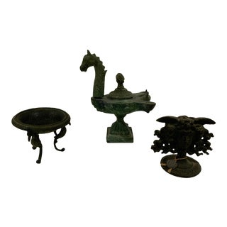 19th Century Neoclassical Set of Grand Tour Objects - Set of 3 For Sale