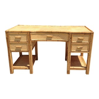 Palm Beach-Style Bamboo & Cane Desk
