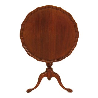 Chippendale Style Claw Foot Mahogany Tilt Top Table For Sale