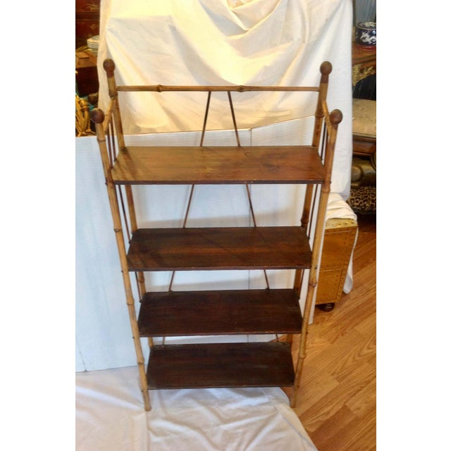 19th Century English Bamboo Bookstand / Étagère For Sale - Image 4 of 13