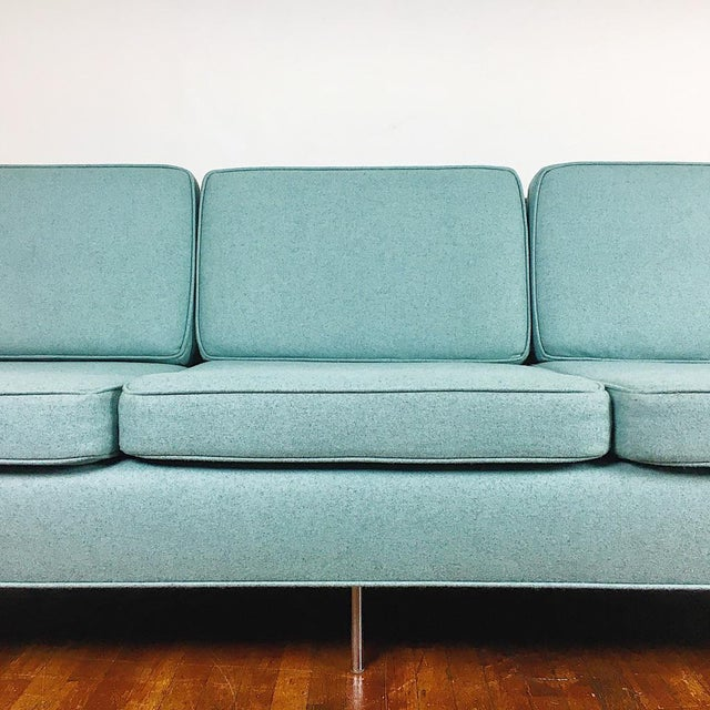 Blue Florence Knoll Sofa For Sale In Los Angeles - Image 6 of 11