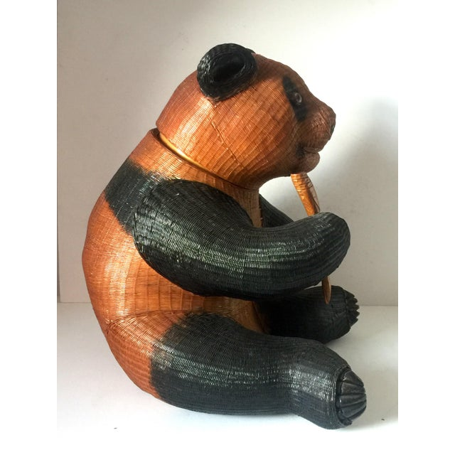 Panda Wicker Cookie Jar For Sale In New York - Image 6 of 9