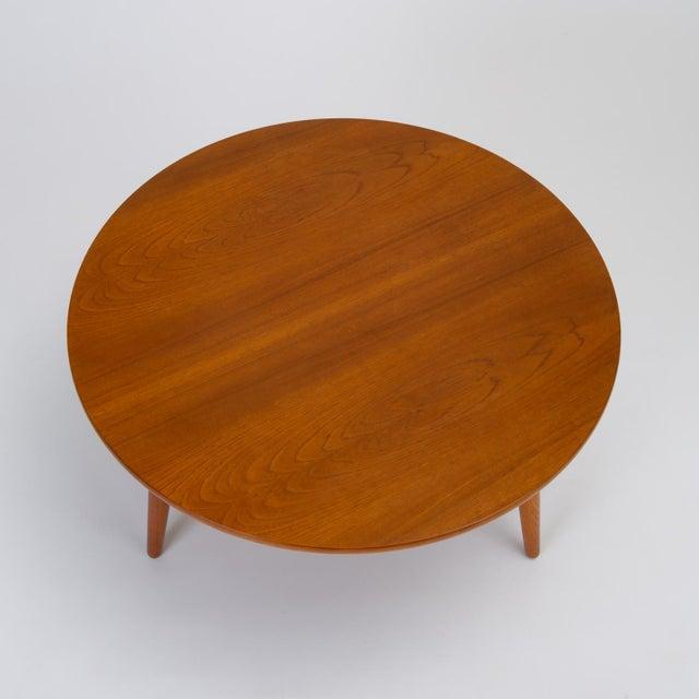 Oak Hans Wegner Three-Legged Teak Coffee Table for Andreas Tuck For Sale - Image 7 of 12