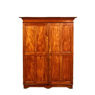 19th Century Two Door Simple Satinwood Cabinet For Sale