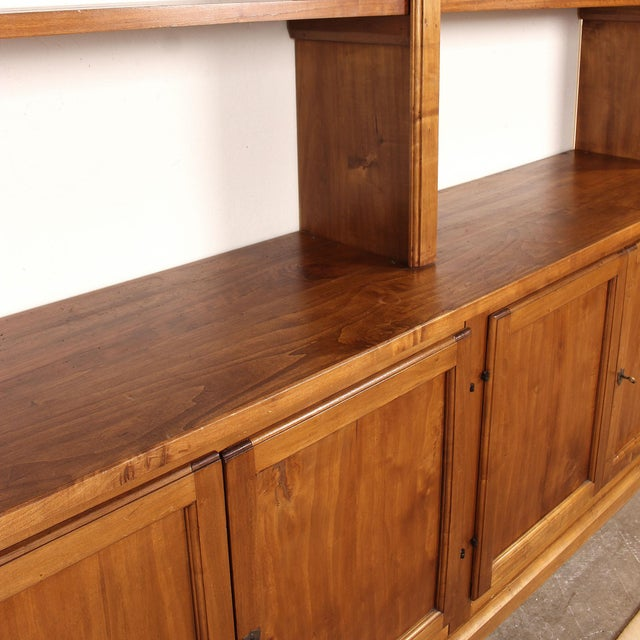 Late 20th Century 20th C. Large Italian Open Bookcase For Sale - Image 5 of 13