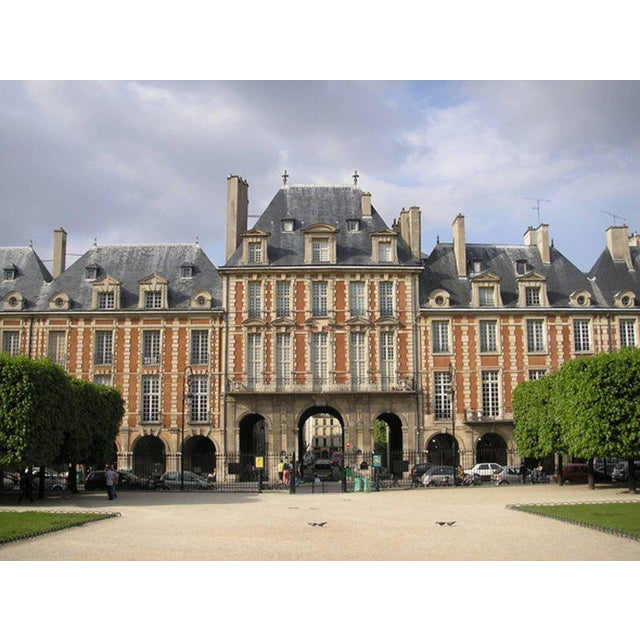 Black Original Architecture Sketches Drawing Study for Place Des Vosges in Paris For Sale - Image 8 of 10
