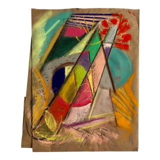 Abstract #98 Original Pastel by Erik Sulander 12 X 16 For Sale