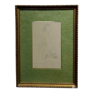 Edgar Degas -Study of a Woman -Etching on Paper-Signed For Sale