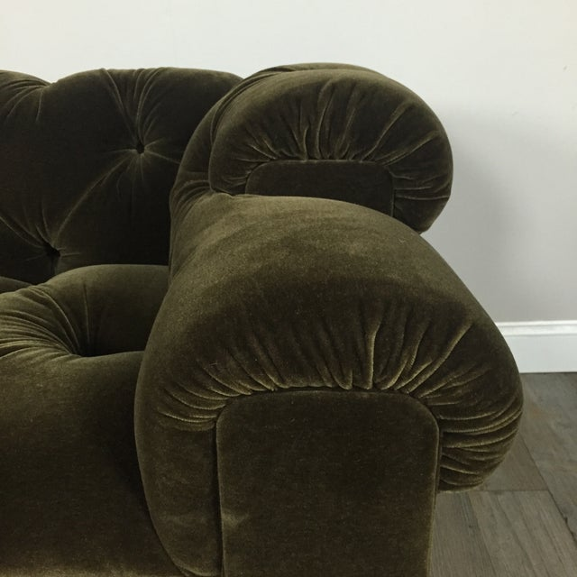 Tufted Green Mohair Sofa - Image 8 of 11