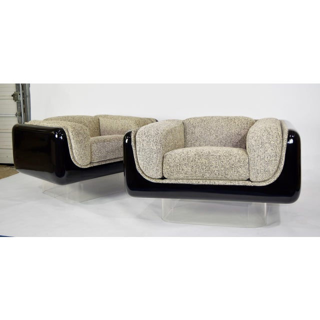 Steelcase William Andrus for Steelcase Lounge Chairs - A Pair For Sale - Image 4 of 10