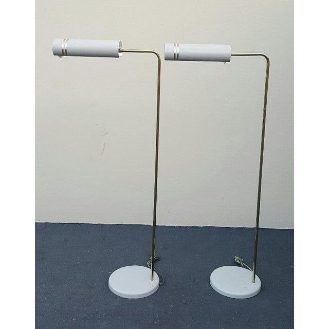 Gerald Thurston Mid Century Rare Stylized Space Age Gerald Thurston Reading Floor Lamps - a Pair For Sale - Image 4 of 11