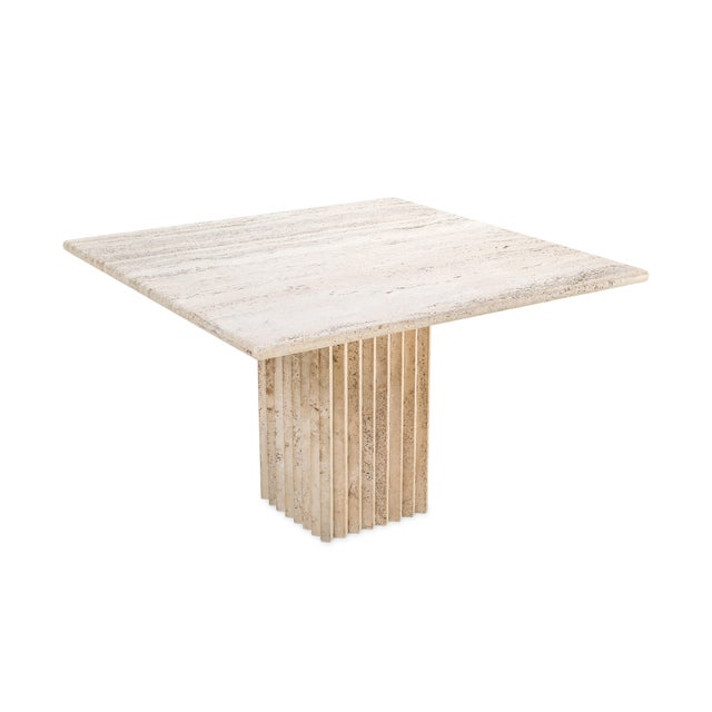 1970s Travertine Dining Table Carlo Scarpa For Sale - Image 6 of 9