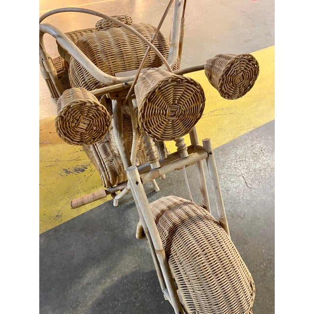 This is a life size, handmade wicker Motorcycle. Made in the 1970's. In very good condition. Enjoy!