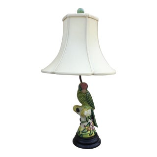 1990s Contemporary Hand Painted Bird Lamp For Sale