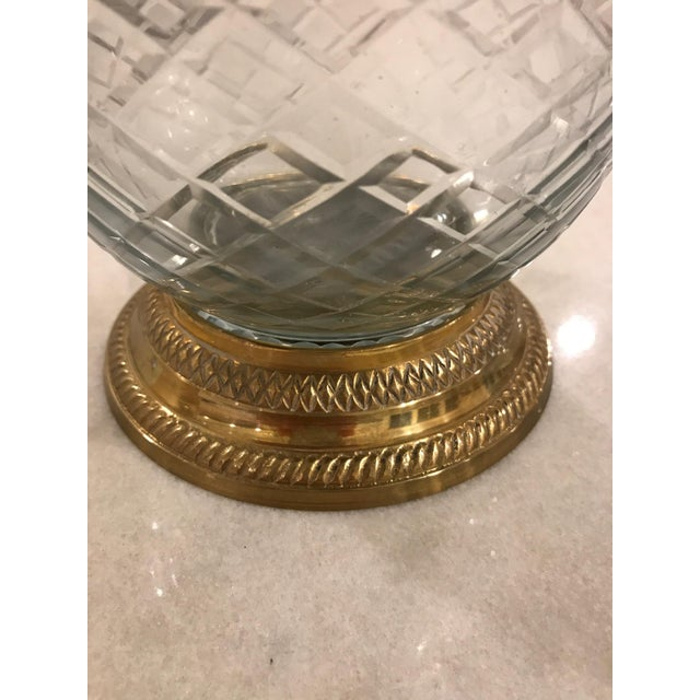 Brass & Cut Glass Lidded Jar - Image 3 of 5