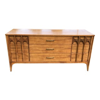 1960s Mid-Century Kent Coffey Perspecta 9 Drawer Credenza Dresser For Sale