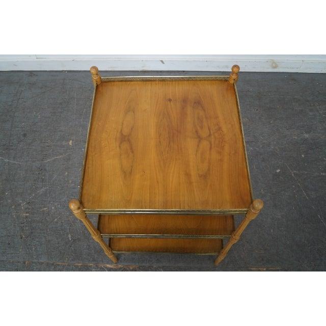 Walnut & Brass Side Table - Image 4 of 10