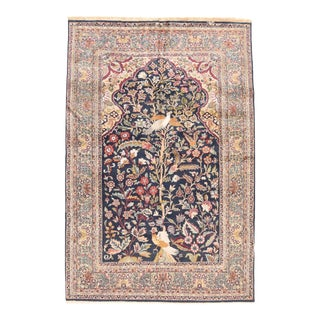 Hand Knotted Persian Tabriz Wool & Silk Rug For Sale