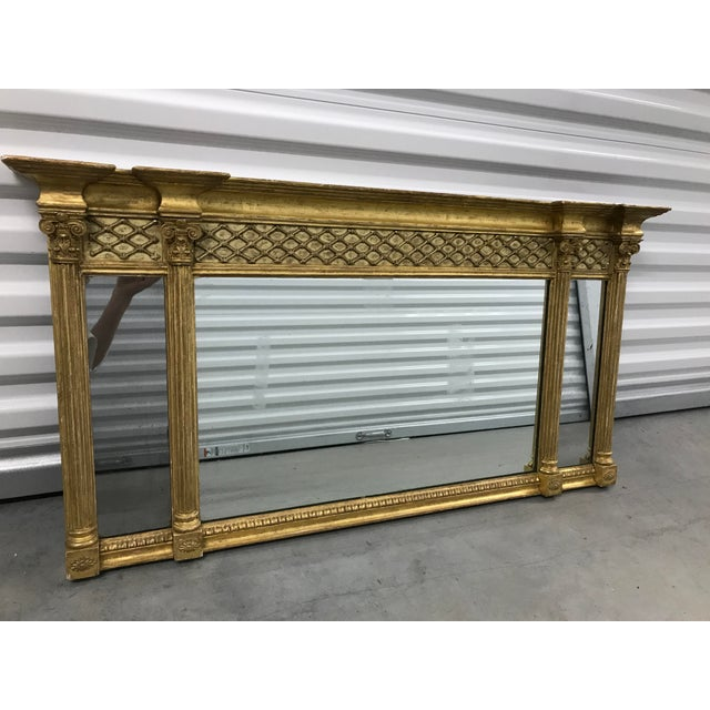 Antique Neoclassical Gilt Mantle Mirror For Sale - Image 9 of 9