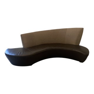 Modern Leather Bilbao Sofa by Vladimir Kagan For Sale