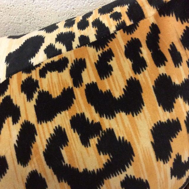 Velvet Leopard Print Pillows - A Pair For Sale - Image 4 of 8