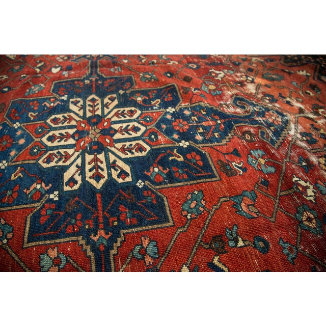 "Vintage Distressed Bakhtiari Carpet - 8'7"" X 11'8"" - Image 10 of 10"