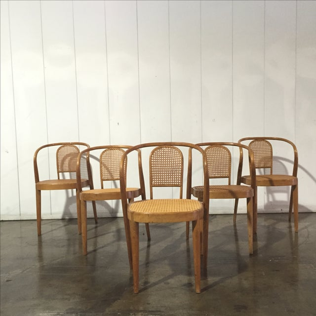 Vintage Thonet Stacking Chairs - Set of 5 - Image 2 of 6
