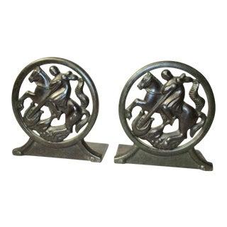 1930s Vintage Just Andersen Danish Bronze Bookends - a Pair For Sale