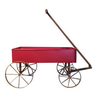 Red Wagon With Iron Wheels For Sale