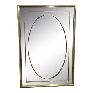 Contemporary Art Deco Gold Mirror For Sale