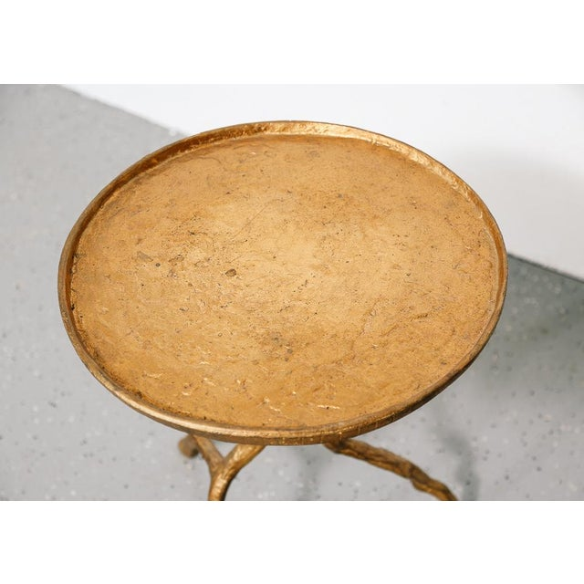 Boho Chic Gilt Iron Branch Form Side Table For Sale - Image 3 of 5