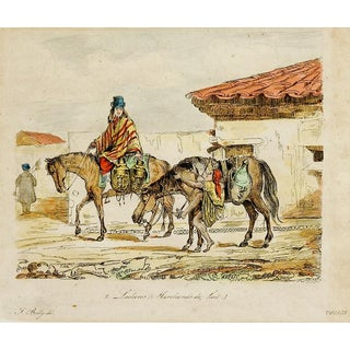 Merchants on Horseback Etching For Sale
