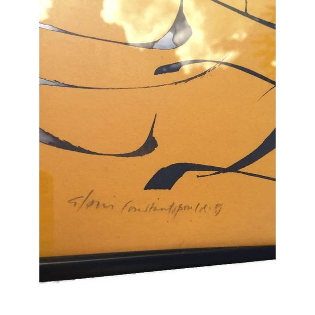 1980s Vintage Abstract Modern Art Calligraphy Prints - A PAIR For Sale - Image 5 of 10