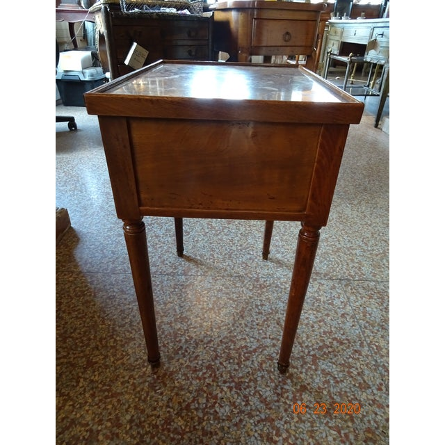 1900 - 1909 French Marble Side Table For Sale - Image 5 of 13