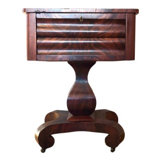 19th Century American Empire Mahogany Side End Table For Sale