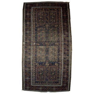 1900s Antique Afghan Baluch Rug - 3.5' X 6.7'