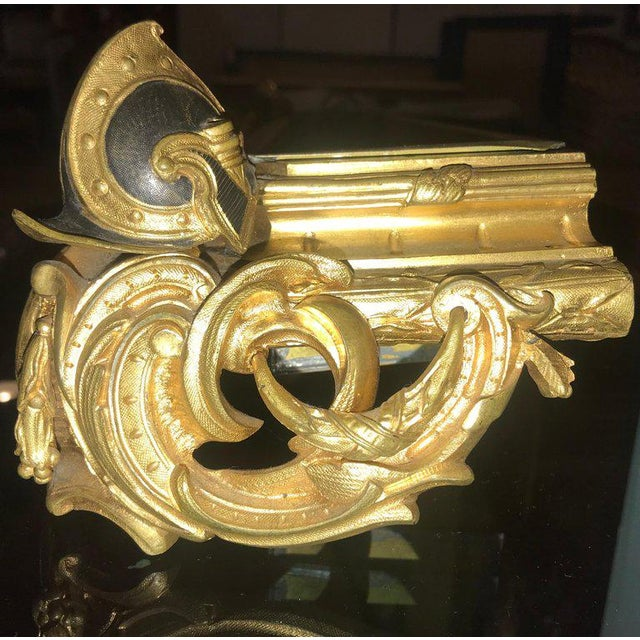 Empire 19th Century Dore Bronze Jardinière or Planter Has Its Original Insert For Sale - Image 12 of 13