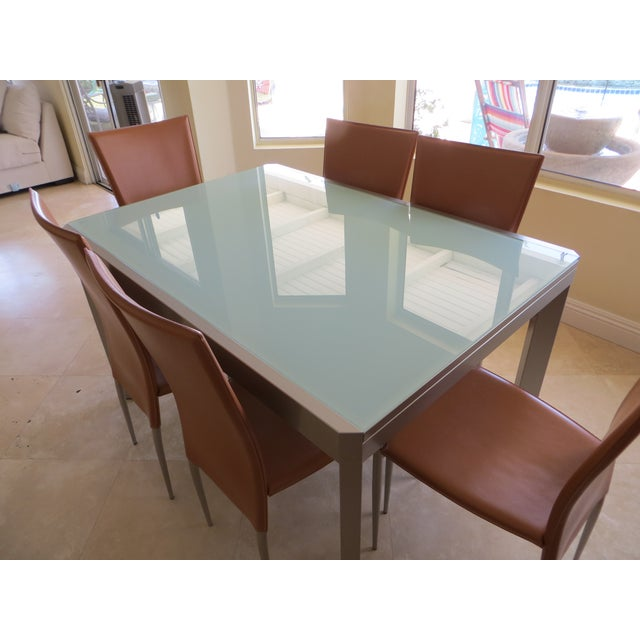 Calligaris Extendable Tempered Glass Dining Set - Image 3 of 11